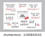 wedding calligraphy lettering... | Shutterstock .eps vector #1100842010