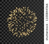 firework gold sparkle isolated... | Shutterstock .eps vector #1100844566