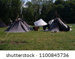 enjoy camp life during the... | Shutterstock . vector #1100845736