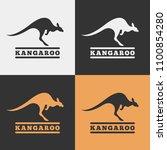 vector kangaroo icon.   Shutterstock .eps vector #1100854280