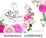 wedding invitation with... | Shutterstock .eps vector #1100854463