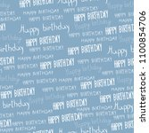 text with a white birthday on... | Shutterstock . vector #1100854706