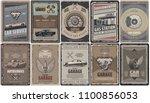 vintage car service brochures... | Shutterstock .eps vector #1100856053
