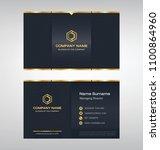 business model name card luxury ... | Shutterstock .eps vector #1100864960