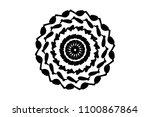 black repeatable mandala on...   Shutterstock .eps vector #1100867864