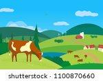 nature outdoor valley landscape.... | Shutterstock .eps vector #1100870660