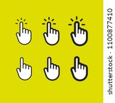 click hand icon set | Shutterstock .eps vector #1100877410