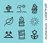 outline nature icon set such as ... | Shutterstock .eps vector #1100879189