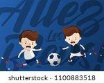"""""""allez les bleus """" for """"go blue ...   Shutterstock .eps vector #1100883518"""
