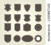 set of shield in different... | Shutterstock .eps vector #1100887103