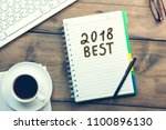 2018 best on page with computer ... | Shutterstock . vector #1100896130