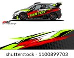 rally car wrap vector designs.... | Shutterstock .eps vector #1100899703