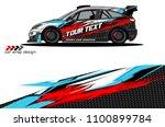 rally car wrap vector designs.... | Shutterstock .eps vector #1100899784