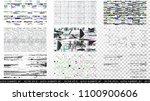glitch elements set. computer... | Shutterstock .eps vector #1100900606