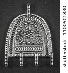 oxidized jewelry images   Shutterstock . vector #1100901830