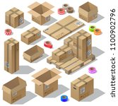 vector 3d isometric set of... | Shutterstock .eps vector #1100902796