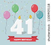 41 years celebration. happy... | Shutterstock .eps vector #1100905118