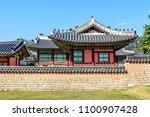 buildings in the gyeongbokgung... | Shutterstock . vector #1100907428