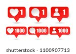 counter youtube notification... | Shutterstock .eps vector #1100907713