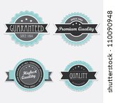 vintage retro labels | Shutterstock .eps vector #110090948