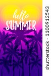 hello summer design with palm... | Shutterstock .eps vector #1100912543