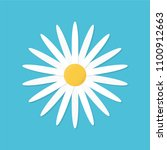 vector illustration chamomile... | Shutterstock .eps vector #1100912663