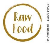brown raw food diet label ... | Shutterstock .eps vector #1100914928