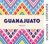 colorful mexican embroidery... | Shutterstock .eps vector #1100918456