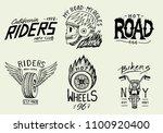 motorcycles and biker club... | Shutterstock .eps vector #1100920400
