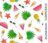 vector seamless pattern.... | Shutterstock .eps vector #1100925413