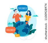 world environmental day ecology ... | Shutterstock .eps vector #1100928974