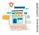 online security  data... | Shutterstock .eps vector #1100928980