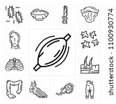 set of 13 simple editable icons ... | Shutterstock .eps vector #1100930774