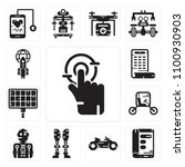 set of 13 simple editable icons ... | Shutterstock .eps vector #1100930903