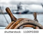 steering wheel sailboat | Shutterstock . vector #110093300