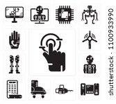 set of 13 simple editable icons ... | Shutterstock .eps vector #1100933990