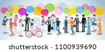 flat design vector people... | Shutterstock .eps vector #1100939690