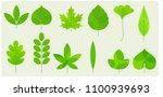flat design fresh summer green... | Shutterstock .eps vector #1100939693