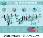 global world isometric map.... | Shutterstock .eps vector #1100939696