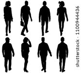 set silhouette of people... | Shutterstock .eps vector #1100944436