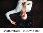 above view of beautiful  sexy... | Shutterstock . vector #1100945480