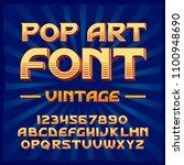 vector vintage typeface. vector ... | Shutterstock .eps vector #1100948690