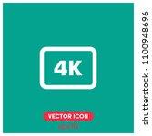 4k video symbol vector icon...