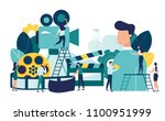 vector illustration on white... | Shutterstock .eps vector #1100951999