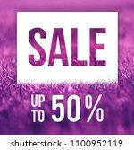 spring sale poster. 50  off... | Shutterstock . vector #1100952119