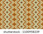ikat seamless pattern. vector... | Shutterstock .eps vector #1100958239