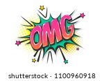 omg ouch oops wow comic text...   Shutterstock .eps vector #1100960918