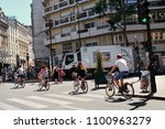 paris  france   june 28  2015 ... | Shutterstock . vector #1100963279