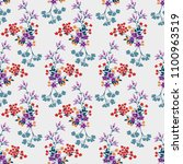 seamless floral pattern in... | Shutterstock .eps vector #1100963519