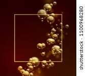 oil gold bubbles isolated on a... | Shutterstock .eps vector #1100968280